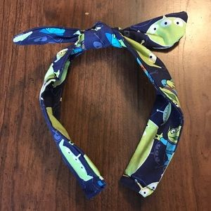 Green Alien Toy Story Bow Headband